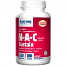 N-A-C Sustain N-Acetyl-L-Cysteine 600 mg (100 Tablets) - Jarrow Formulas