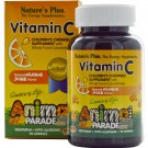 Vitamin C, Children's Chewable Supplement, Natural Orange Juice Flavor (90 Animals) - Nature's Plus