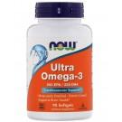 Ultra Omega-3- 500 EPA/250 DHA (90 softgels) - Now Foods