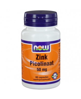 Now Foods, zink picolinaat, 50 mg, 60 Capsules