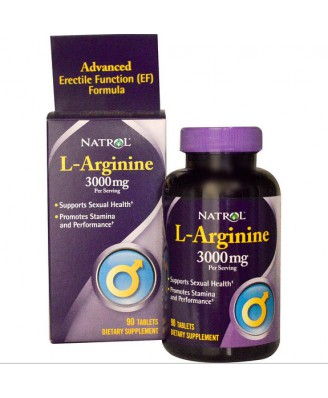 Natrol, L-Arginine 3000 mg, 90 Tablets