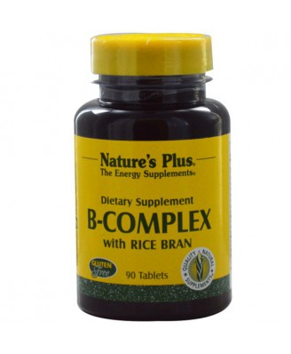 B-Complex with Rice Bran (90 Tablets) - Nature's Plus