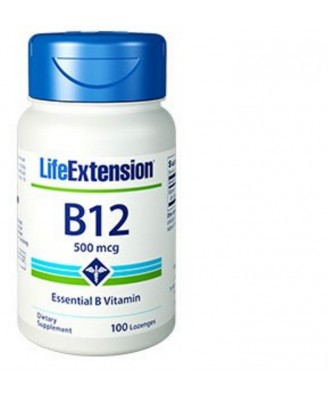 Vitamin B12 -  500 Mcg 100 Tablets - Life Extension