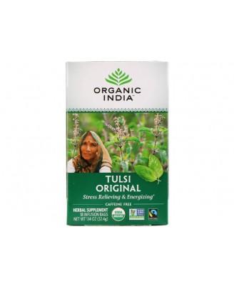 Tulsi Holy Basil Tea Original Caffeine-Free 18 Infusion Bags (32 Gram) - Organic India