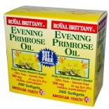 American Health, Royal Brittany Evening Primrose Oil 500 mg, 2 Bottles, 200 Softgels Each