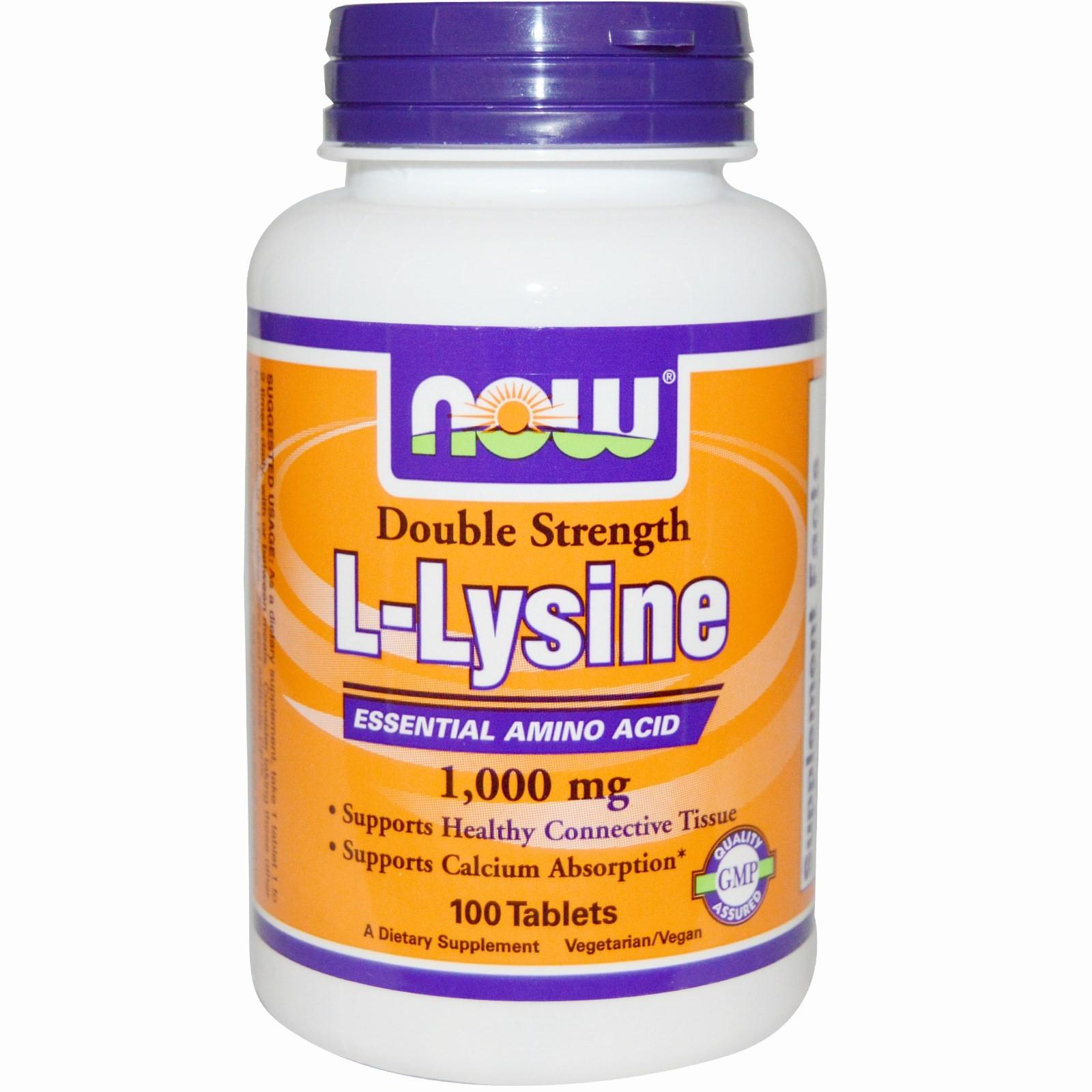 Buy Now Foods L Lysine 1 000 Mg 100 Tablets L Lysine