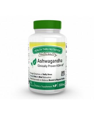 Ashwagandha KSM-66 500mg (non-GMO) (90 Vegicaps) - Health Thru Nutrition