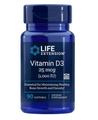 Vitamine D3, 1,000 Iu 90 Softgels - LifeExtension