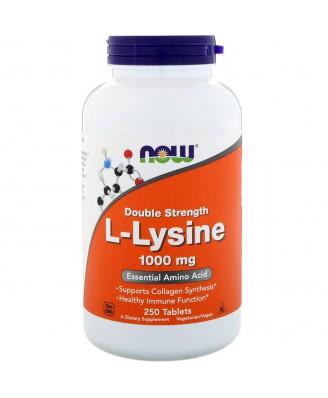 L-Lysine- 1000 mg (250 tablets) - Now Foods