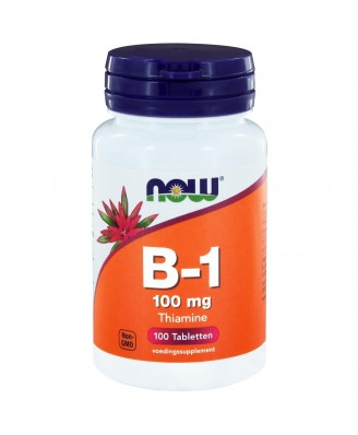 Now Foods, B-1, 100 mg, 100 tabletten