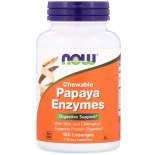 Chewable Papaya Enzymes (180 lozenges) - Now Foods