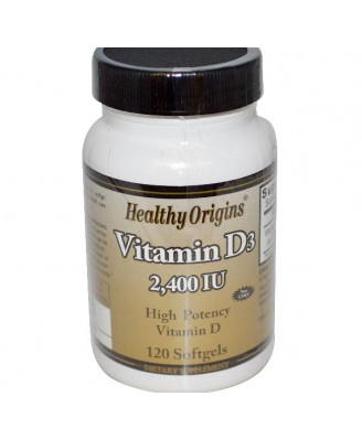 Vitamine D3 2400 IE (120 Softgels) - Healthy Origins