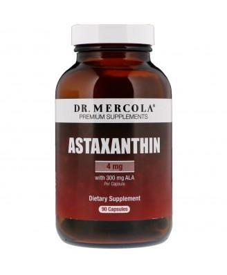 Dr. Mercola, Premium Supplements, Astaxanthine, 90 Licaps Capsules