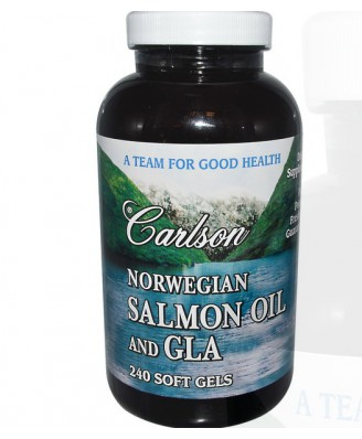 Norwegian Salmon Oil and GLA (240 Softgels) - Carlson Labs