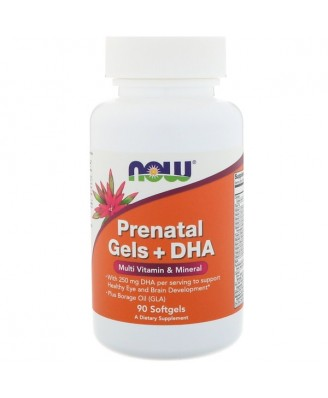 Prenatal Gels + DHA (90 softgels) - Now Foods