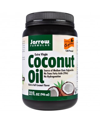 Organic Extra Virgin Coconut Oil (946 ml) - Jarrow Formulas