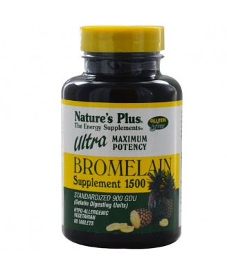 Bromelain Supplement 1500 Ultra Maximum Potency (60 Tablets) - Nature's Plus