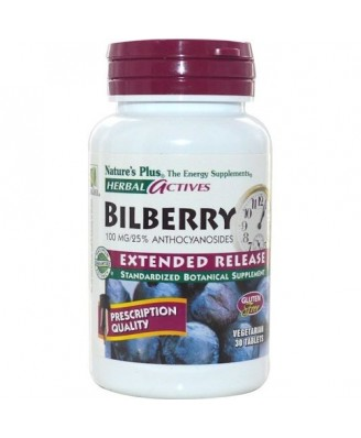 Herbal Actives - Bilberry Extended Release 100 mg (30 Tablets) - Nature's Plus