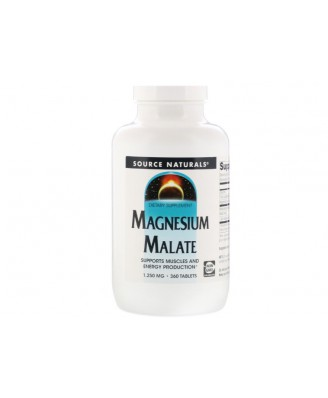 Magnesium Malate- 1250 mg (360 tablets) - Source Naturals