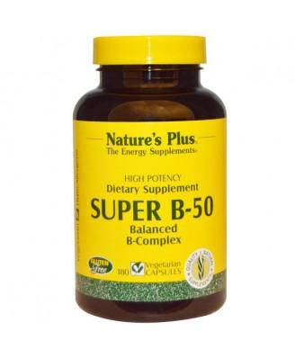 Super B-50 (180 Veggie Caps) - Nature's Plus