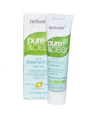 Nelsons Pure and Clear Acne Gel -- 1 oz