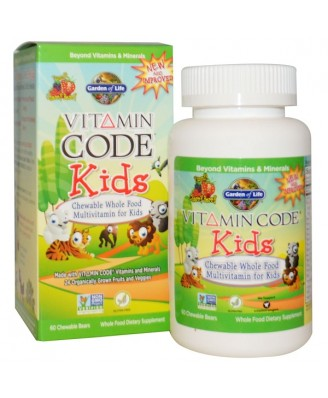 Vitamin Code - Chewable Whole Food Multivitamin for Kids - Cherry Berry (60 chewable tablets) - Garden of Life